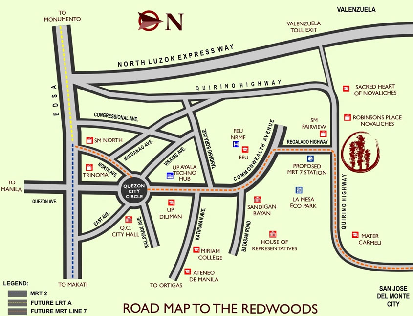 The Redwoods Location