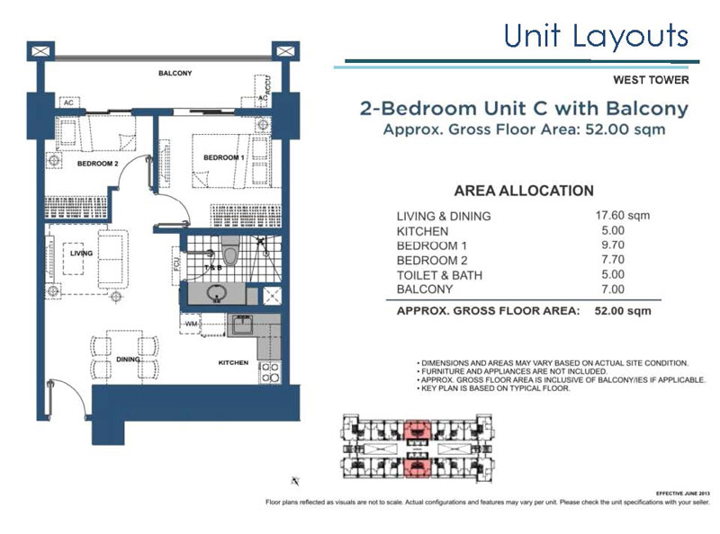 Lumiere Residences 2 Bedroom C with Balcony