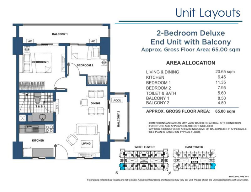 Lumiere Residences 2 Bedroom Deluxe End Unit with Balcony