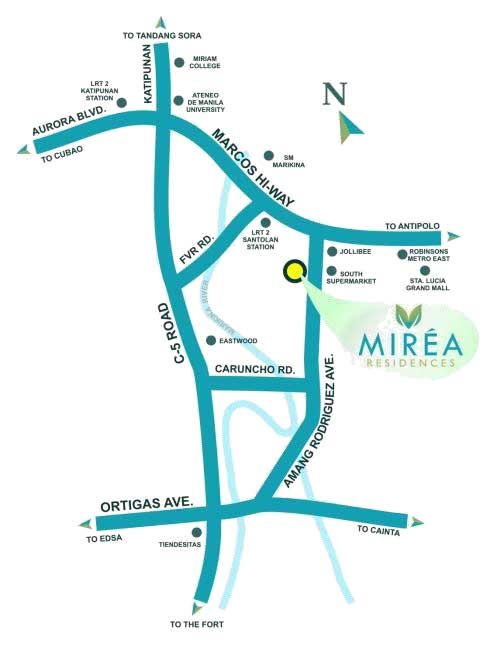 Mirea Residences Location Map