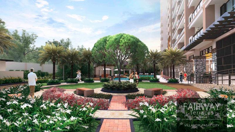 Fairway Terraces Garden Area