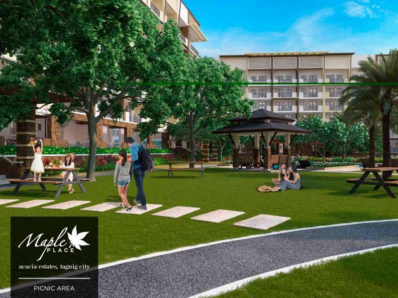 Maple Place Garden Area