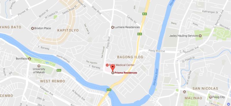 Prisma Residences Map