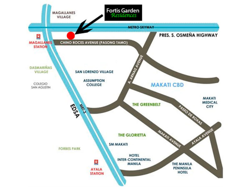 Fortis Garden Residences Location Map