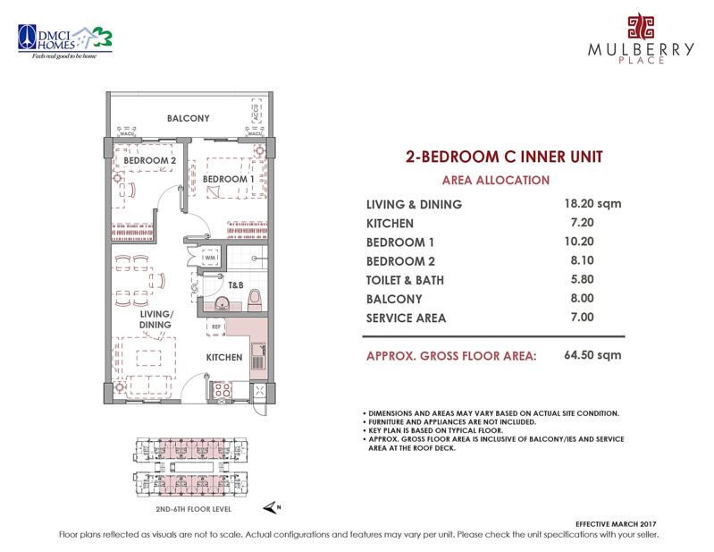 Mulberry Place 2BR Layout