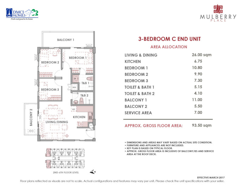 Mulberry Place 3BR Layout