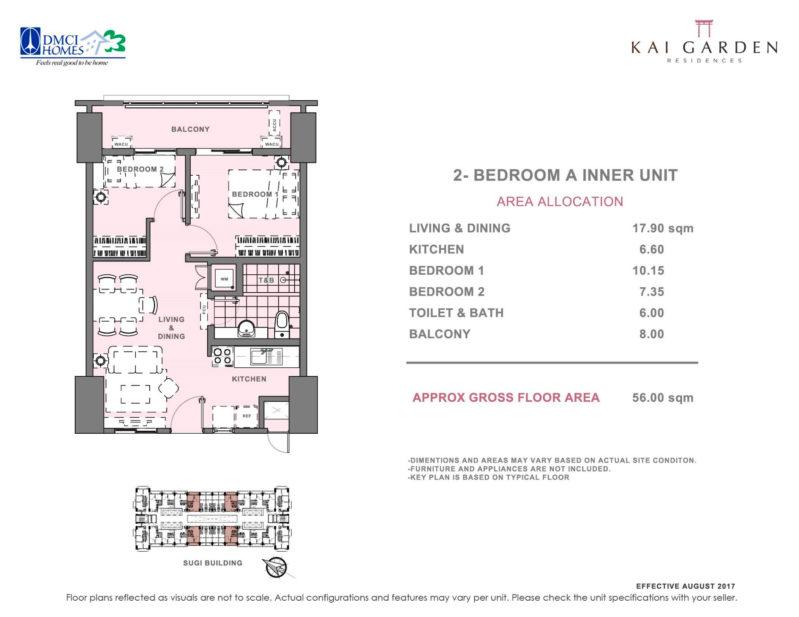 Kai Garden Residences 2 Bedroom A