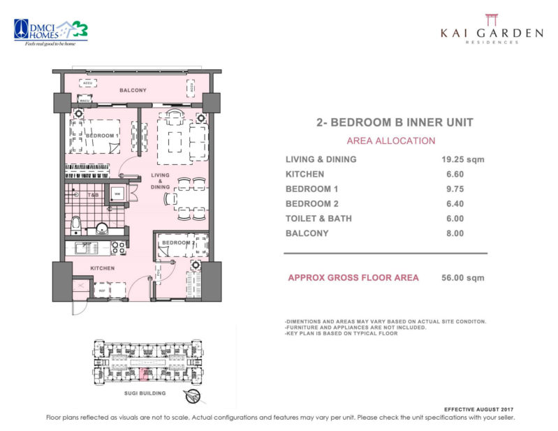 Kai Garden Residences 2 Bedroom B